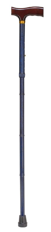 Duro-Med 502-1325-9913 Designer Folding Cane - Derby Handle - Blue Ice