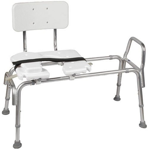 Duro-Med 522-1734-1900 Heavy-Duty Sliding Transfer Bench With Cut-Out Seat