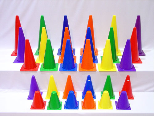 Everrich EVB-0015 9 Inch Plastic Cones - Set of 6