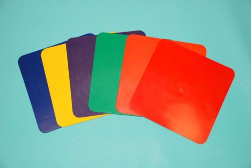 Everrich EVB-0047 9 Inch Square Mat - Set of 6 Colors