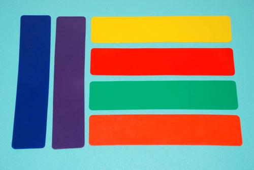 Everrich EVB-0051 Rectangle Mat - Set of 6 Colors