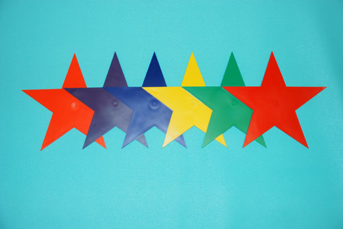 Everrich EVB-0013 Marker Stars - 9 Inch - Set of 6 Colors