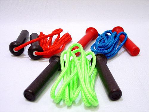 Everrich EVA-0006 Deluxe Nylon / Cotton Jump Ropes - 9 Feet