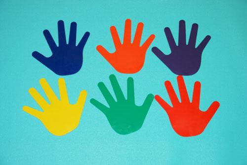 Everrich EVB-0045 Hands Print - 2 Pair in 6 Colors