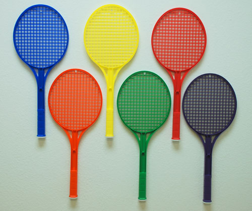 Everrich EVB0058 Rainbow Tennis Rackets Set of 6 Colors