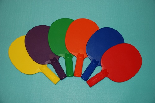 Everrich EVB-0056 Plastic Ping Pong Paddle- Set of 6 Colors