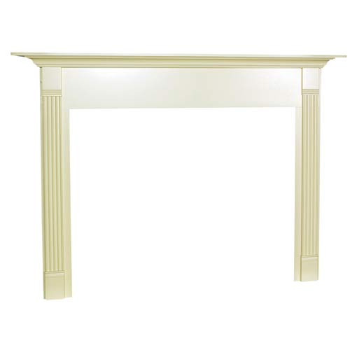 Franklin Flush Fireplace Mantel in Medium Provincial