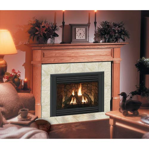 Hearth and Home Mantels Solid Oak Claremont Flush Fireplace Mantel in Colonial Maple Finish (Colonial Maple 50 in. x 52 ...