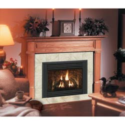 Claremont Flush Fireplace Mantel in Medium English Chestnut