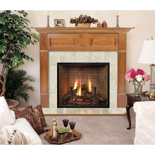 Wellington A Flush Fireplace Mantel in Medium Provincial