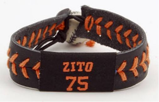 Gamewear MLB Leather Wrist Bands - Zito Team Colors