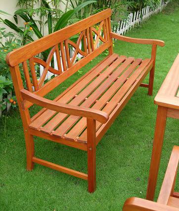 Vifah V100 Balthazar 5' Hardwood Patio Bench