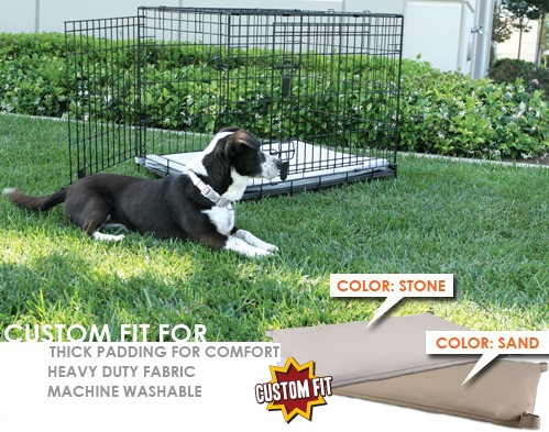 Animated Pet PG-057-19 Crate Pad Fits 42 X 26 X 28 Midwest Better Buy Corner Pin crates- Stone-Grey Color