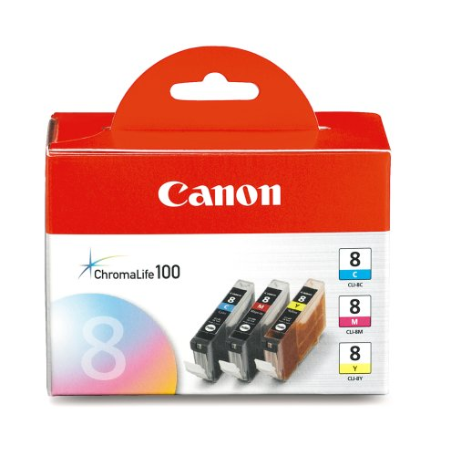 Canon 0621B016 CLI-8 3 Pack C / M / Y Value Pack