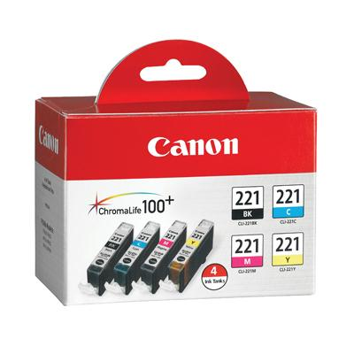 Discount Electronics On Sale Canon Computer Systems 2946B004 4 Color Pack Ink Tank CLI-221