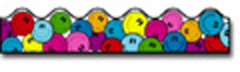 CARSON DELLOSA CD-1228 BORDER SMILEY FACES-SCALLOPED