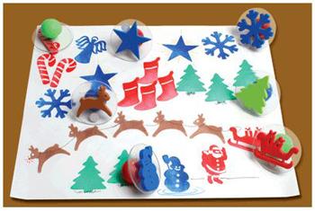 Center Enterprises  Inc. CE-6725 Giant Christmas Stamps - Set of 10