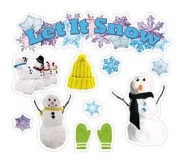 Edupress EP-3600 Let It Snow Mini Bulletin Board Set