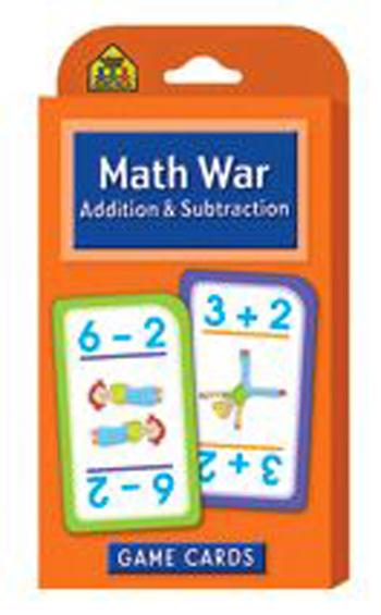 School Zone Publishing SZP05016 Math War Addition & Subtraction Game Cards
