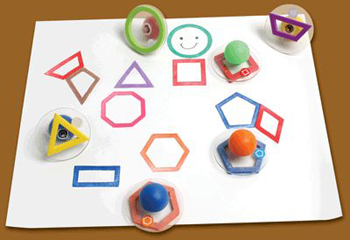 Center Enterprises  Inc. CE-6736 Ready2Learn Giant 10 Pack Outline Geometric Shapes