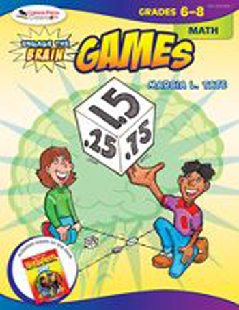Corwin Press COR9781412959261 Engage The Brain Games Math Gr 6-8 EDRE25320