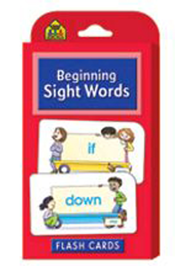 School Zone Publishing SZP04002 Beginning Sight Words Flash Cards