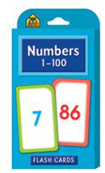 School Zone Publishing SZP04005 Numbers 1-100 Flash Cards