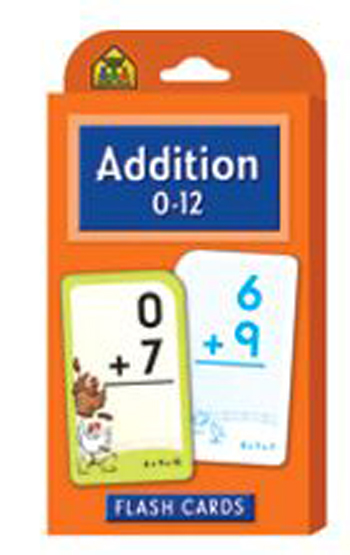 School Zone Publishing SZP04006 Addition 0-12 Flash Cards