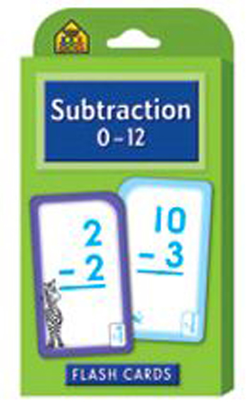 School Zone Publishing SZP04007 Subtraction 0-12 Flash Cards