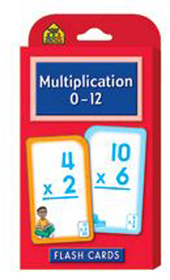 School Zone Publishing SZP04008 Multiplication 0-12 Flash Cards