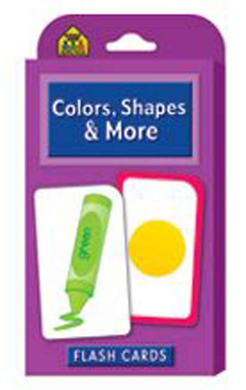 School Zone Publishing SZP04011 Colors Shapes & More Flash Cards