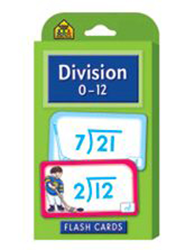 School Zone Publishing SZP04017 Division 0-12 Flash Cards