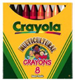 Crayola Llc Formerly Binney & Smith Bin080W Multicultural Crayons Lrg 8-Pk