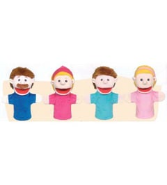 Get Ready Kids Formerly Mt&B Mtb350 Family Bigmouth Puppets Caucasian Family Of 4
