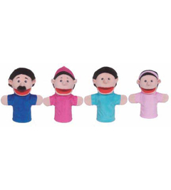 Get Ready Kids Formerly Mt&B Mtb370 Family Bigmouth Puppets Hispanic Family Of 4