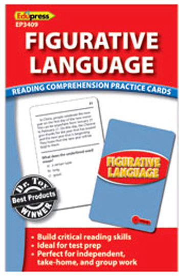 Edupress Ep3409 Figurative Language Reading Comprehension Practice Cards Red