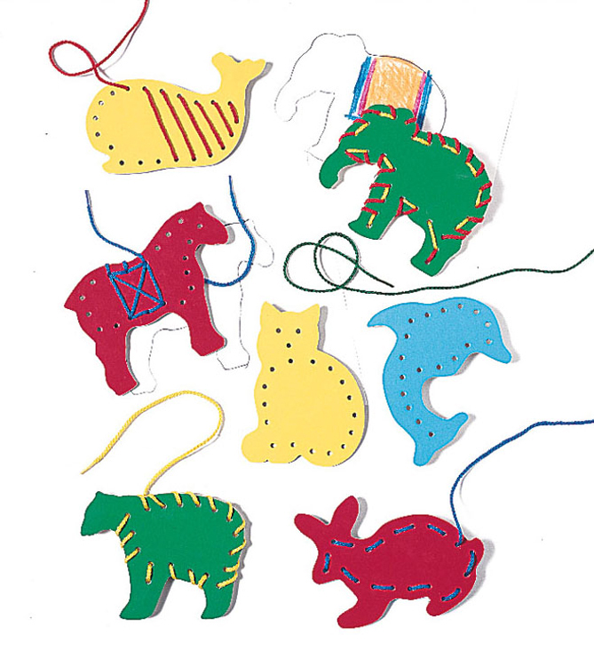 Smethport Specialty Company- Lauri Lr-2562 Lacing & Tracing Animals 7 per pack Ages 3-7