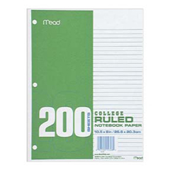 Mead Products Mea15326 Paper Filler Col 10.5X 8 200 Ct