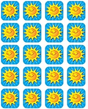 Teacher Created Resources Tcr5730 Summer Sunshine Stickers 120 Stks