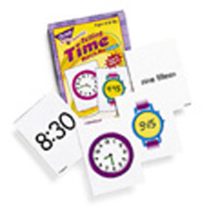 TREND ENTERPRISES T-58004 MATCH ME CARDS TELLING TIME-52 TWO-SIDED CARDS/BOX AGES 6 & UP