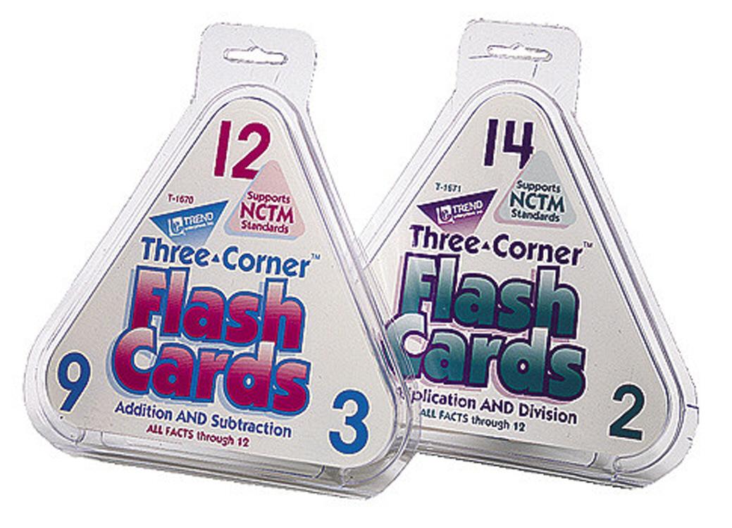 TREND ENTERPRISES T-1670 THREE-CORNER FLASH CARDS ADD/SUBT-48/PK ADDITION AND SUBTRACTION