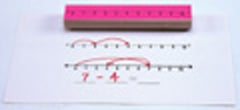 CENTER ENTERPRISES CE-913 STAMP SET NUMBER LINE-3/PK 1-10 1-20 _ + _ = _