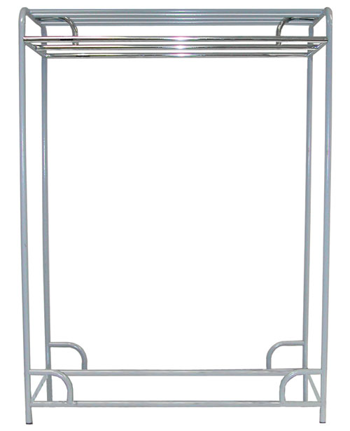 "Ex-Cell Kaiser LLC 790-48D GRY 48"" Double Bar Stationary Garment Rack"