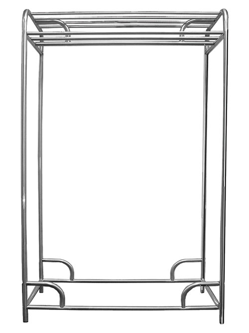 "Ex-Cell Kaiser LLC 790-60D CHR 60"" Chrome Plated Double Bar Stationary Garment Rack"