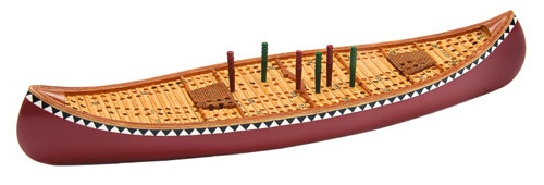 Outside Inside OUT99883 Canoe Cribbage Board