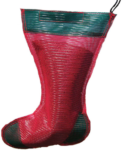 Jumbo Holiday Thistle Sack - Red and Green