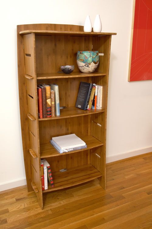 Legare BCAO-120 59 inch x 31 inch Bookcase- Carbonized Amber Finish