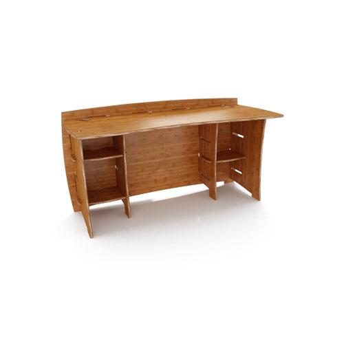 Legare SDAO-140 60 inch Straight Desk- Carbonized Amber Finish
