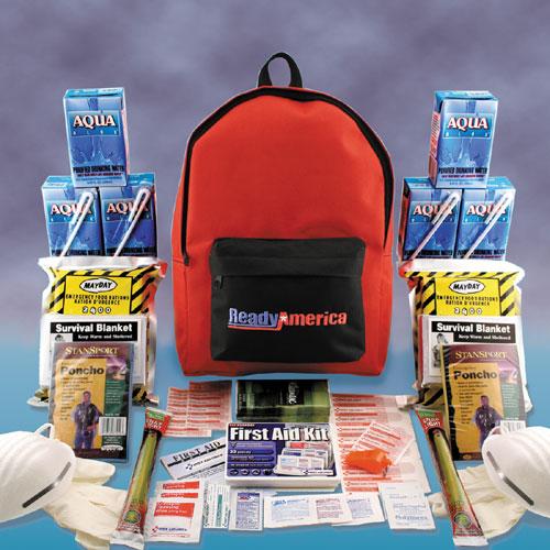 Ready America 70280 Grab N  Go 2 Person Emergency Kit