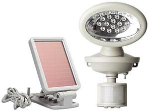 MAXSA Innovations 40217 14 LED Solar-Power Motion-Activated Security Spotlight